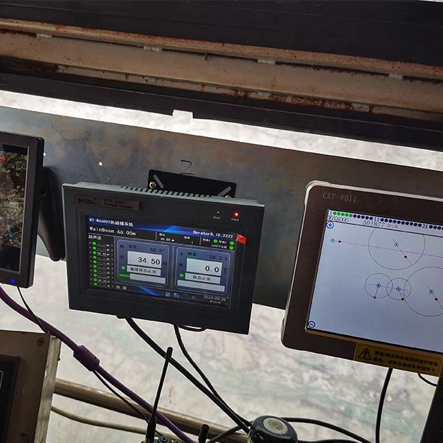 Venda quente escavadeira hidráulica modelo de célula de carga do sistema anti-colisão com sensor de radar para substituir yongmao guindaste sli
