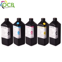 Ocbestjet New Improved Universal Soft LED UV Ink UV Inkjet Printer Ink For Epson DX5 DX6 DX7 UV Flatbed Printer