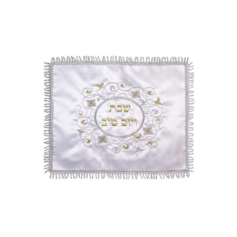 中国製メタリック糸刺繍カラユダヤ人用カバー休日 3D 刺繍ユダヤ人ユダヤ oem サービス