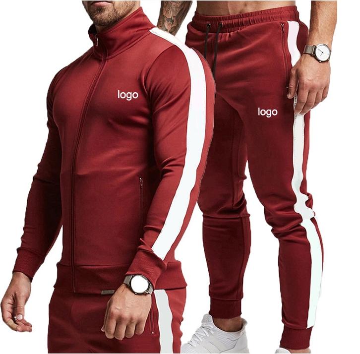 ขายส่ง Mens Hoodies เสื้อแจ็คเก็ตและชุด Jogger Tracksuit ผู้ชายแขนยาวเสื้อกันหนาวที่กำหนดเองโลโก้