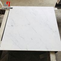Economical Porcelain marble tiles That Looks Like White Vanity Top Bianco Carrara Marble Tiles For Interior Decoration