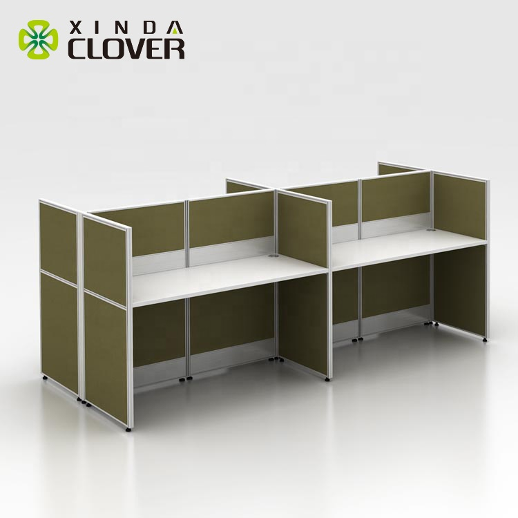 Xinda T3 Series modern design dimensions office workstation call center long computer desk parts for 4 person