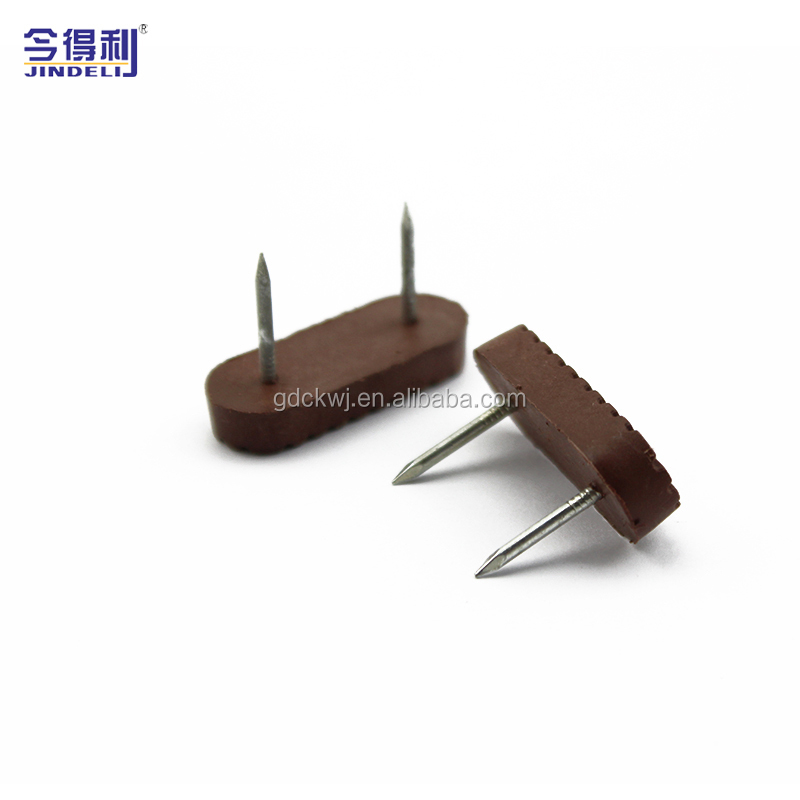 Brown Color Furniture Accessories Home Wood Chair Nail Feet Plastic Chair Glide Rising Nail