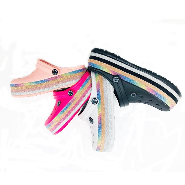 Оптовая Продажа Новейшие костюмы для девочек, костюм с принтом из ЭВА; Обувь для сада; Шикарные женские босоножки на платформе; Дачные Сабо летние пляжные шлепанцы на плоской подошве сандалии shoesfor для женщин