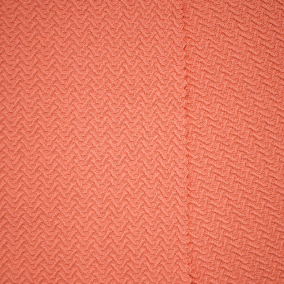 Textured jacquard 4 way stretch crinkle fabric nylon spandex for swimwear dress weft knitted customized color