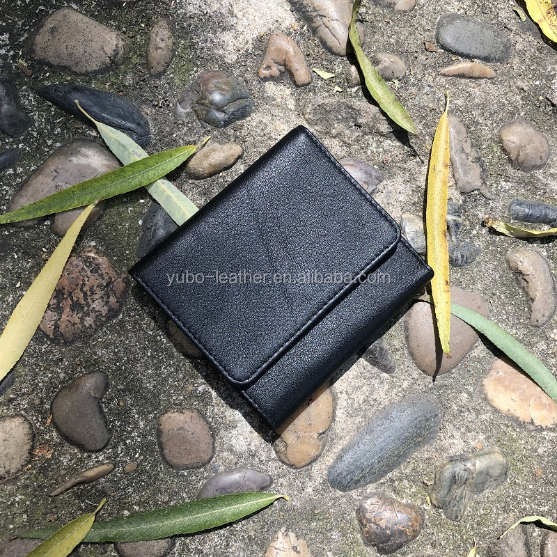 High End Calf Leather Card Holder Wallet Custom Logo Custom Card Holder Wallet