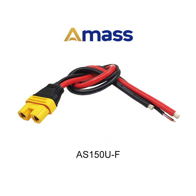 Amass AS150U Male Female Plug Connector Resistance Adapter Cable With Signal Pin Waterproof Plug For FPV Racing RC Drone Model