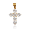 35599 Xuping fashion jewelry 24K gold color stainless steel cross diamond pendant for women