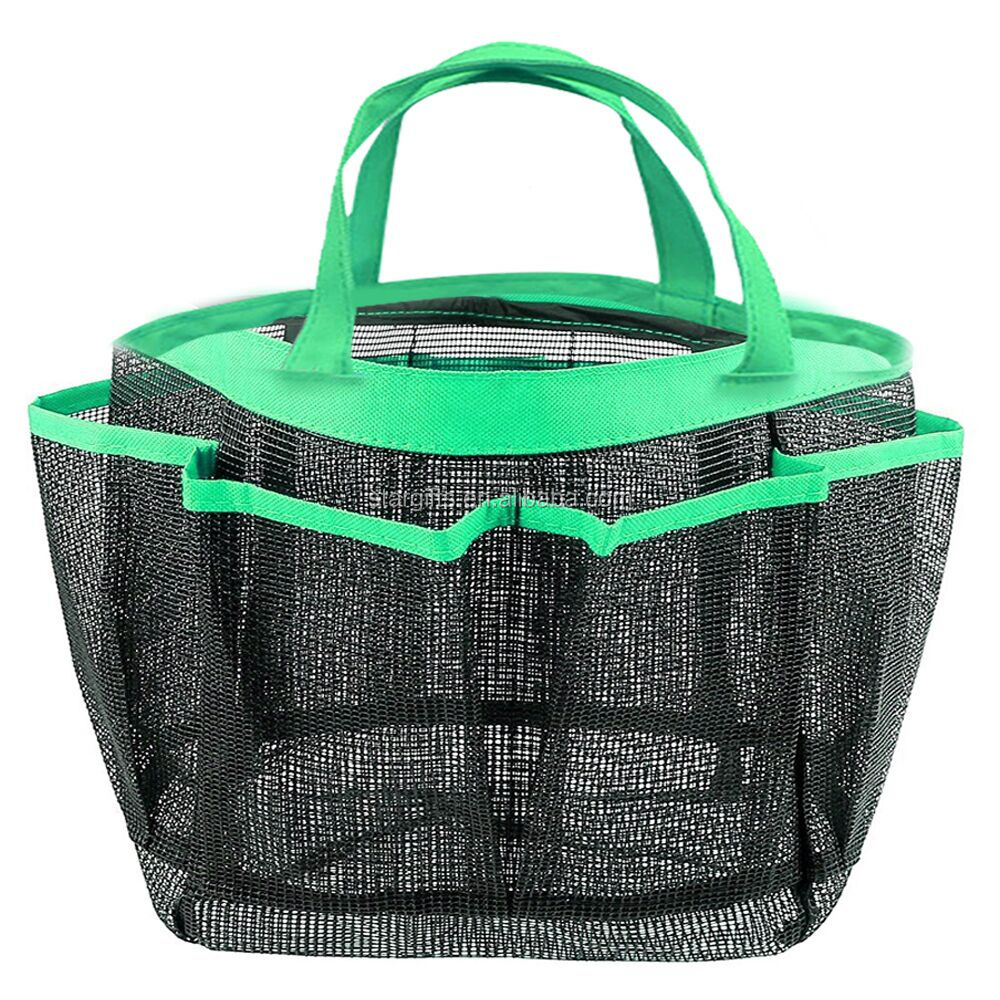 Cheap Portable Eco Collapsible Clear Travel Custom Shower Mesh Bag