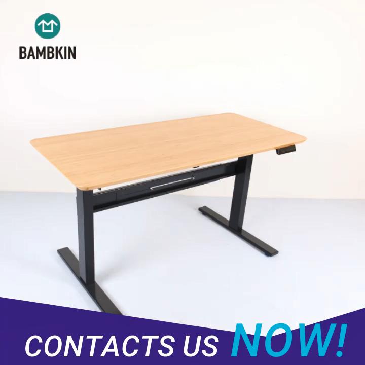 Bambkin Bambu Tinggi Disesuaikan Tableoffice Meja Komputer