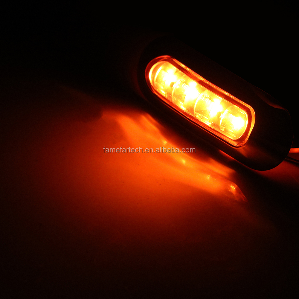Car Truck Side Lights 4 LED Warning Indicator Tail Light Car Decoration Rolling Car Truck Signal Warning accessories