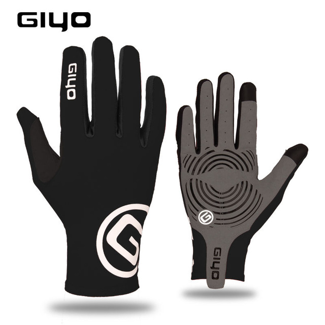 GIYO dokunmatik ekran uzun tam parmak jel spor bisiklet eldiveni MTB yol bisiklet sürme yarış eldivenleri kadın erkek bisiklet eldivenleri
