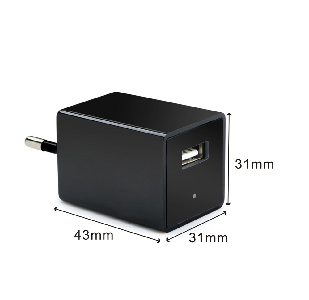 Mini 128G 1080p Home Security Wireless Hidden USB Wall Charger Spy Camera