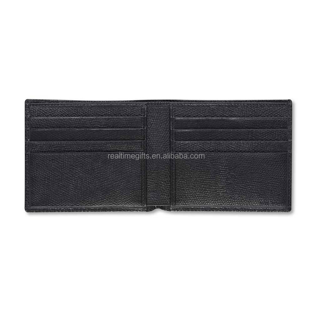 Fashion Black Short Slim Simple Style High Quality Men's Credit Card Holder PU Leather Wallet