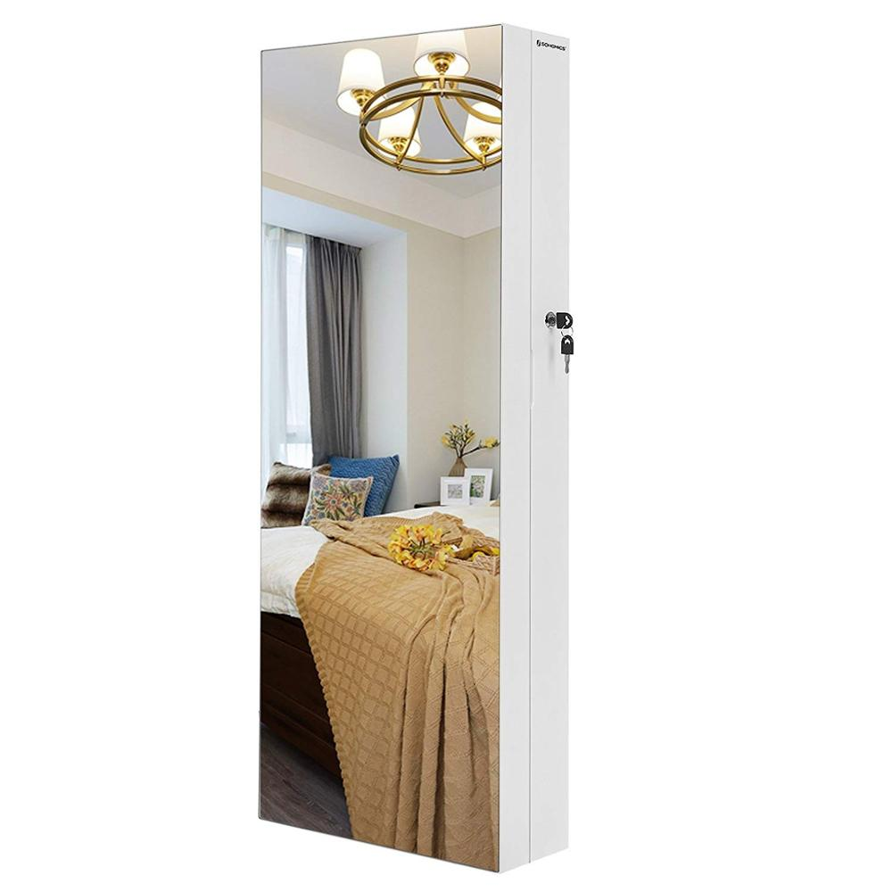Pure White High Capacity Foldable Jewelry Cabinet