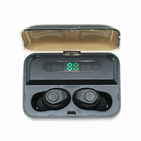 F10 TWS wireless bass HIFI earbuds V5.0 sports music Bluetooth Earphone with display charging box