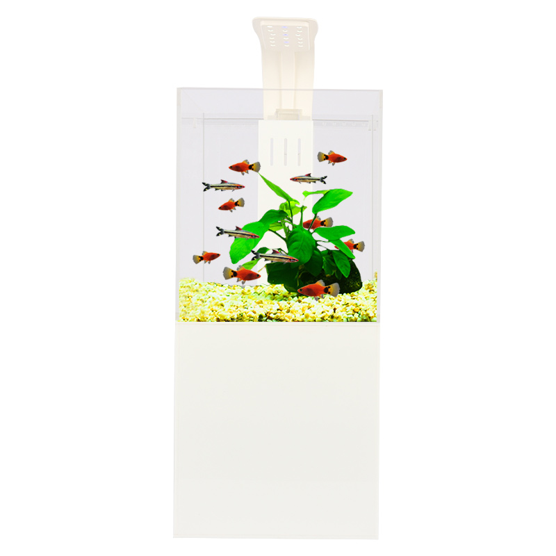 Hetoราคาถูกขายร้อนขนาดเล็กMini Aquariumปลาถังน้ำ,โคมไฟLed,ฟิลเลอร์สินค้า