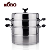 Wholesale hot product stainless steel induction dumpling steamer with multi layer