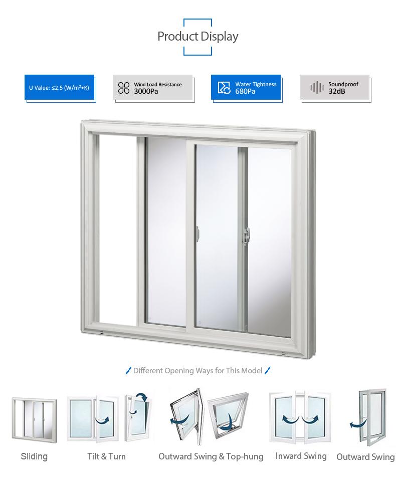 Haute Qualité Personnalisé Intérieur Isolant Verre Porte Coulissante Upvc Fenêtres Et Portes En Pvc