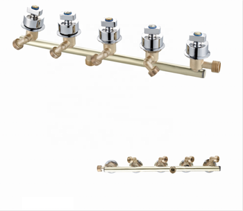 Manufacturer Brass Bathroom Siamese 5 Handles Waterfall Faucets Chrome Wall Mounted HX-6517 Shower Mixer Tap