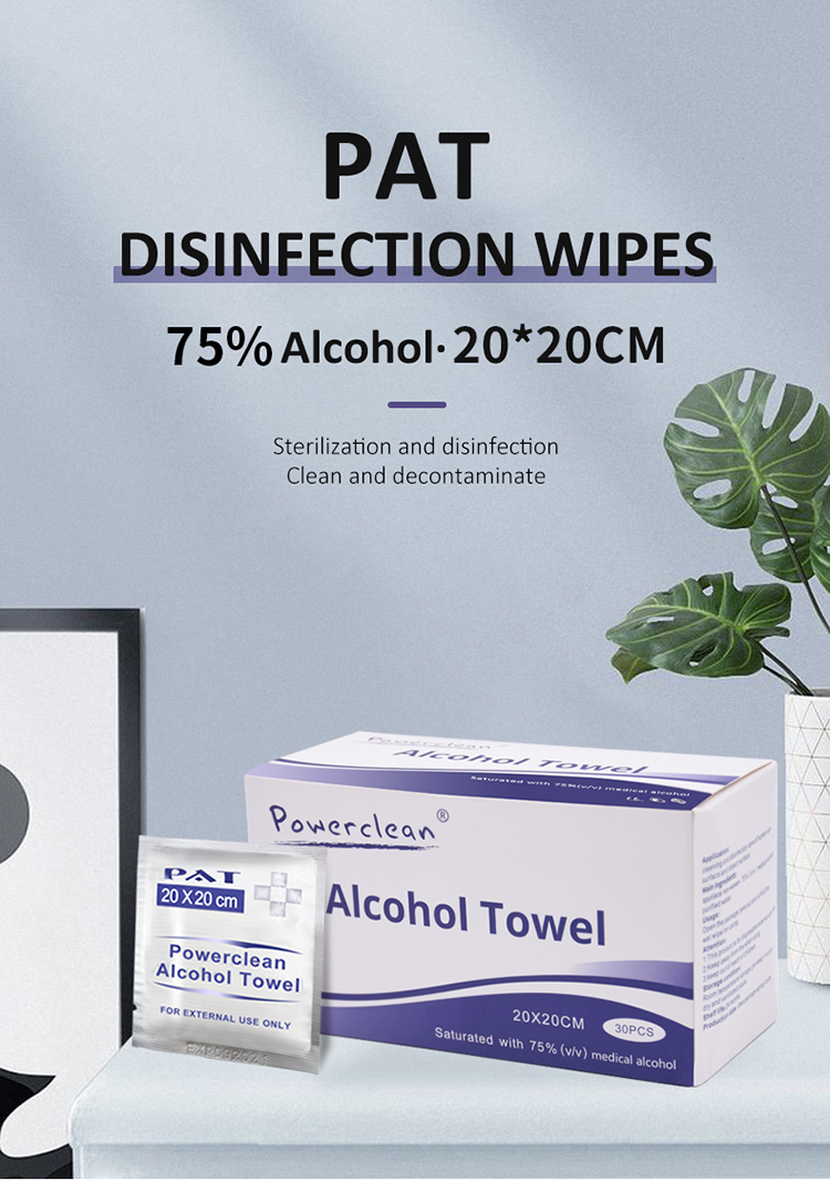 Wholesale non-woven fabric wet paper towels disposable large size wet towel 30pcs/box