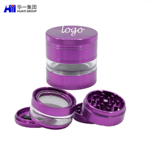 2019 Vendita calda 63mmTransparent Finestra Diamante Denti <span class=keywords><strong>di</strong></span> Spezie Weed Herb Grinder Con Logo Personalizzato Per Il <span class=keywords><strong>Fumo</strong></span>