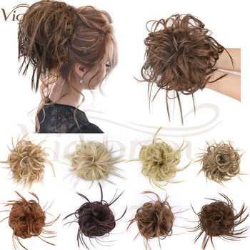 Vigorous Synthetic Chignon Messy Scrunchie Elastic Band Hair Bun Straight Updo Colour Hairpiece High Temperature Natural Hair