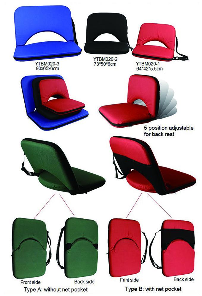 Easy Carry Reclining Folding Floor Cushion Beach Low Seat Chair