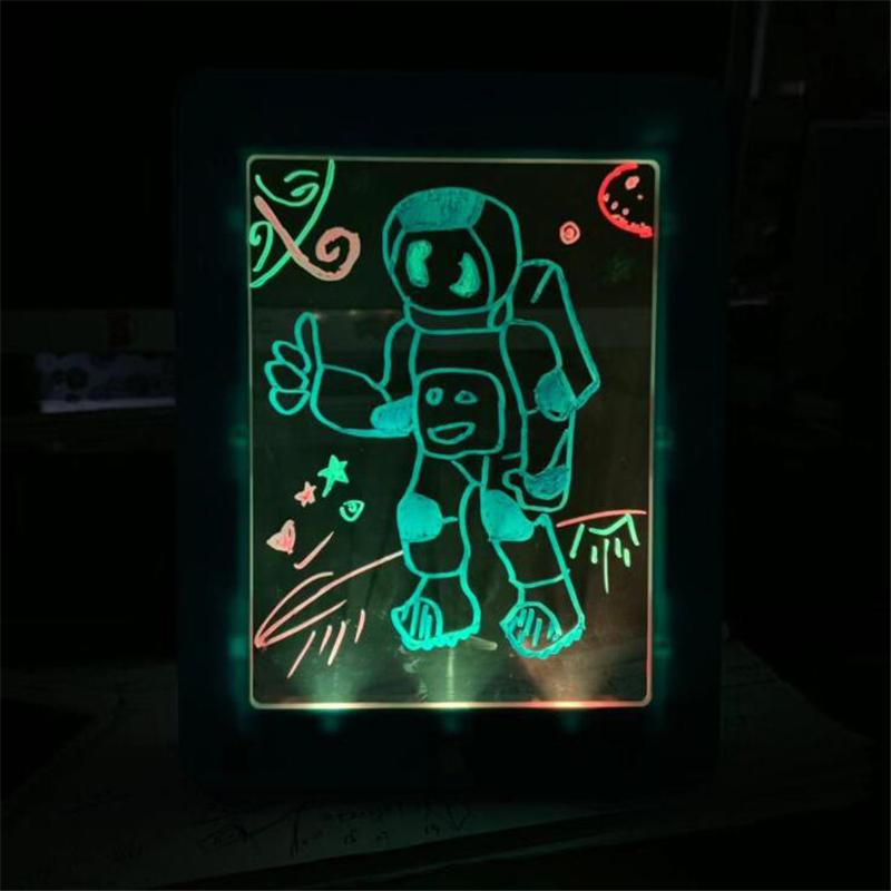 New 3D Magic Pad LED Writing Board For Plastic Creative Art Magic Board With Pen Brush Children Clipboard Educational Set Gift