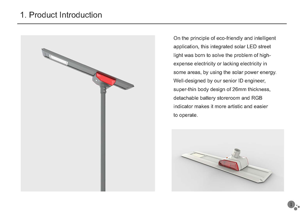 The newest LUMINARIA SUBURBANA SOLAR Street Light tender with high quality