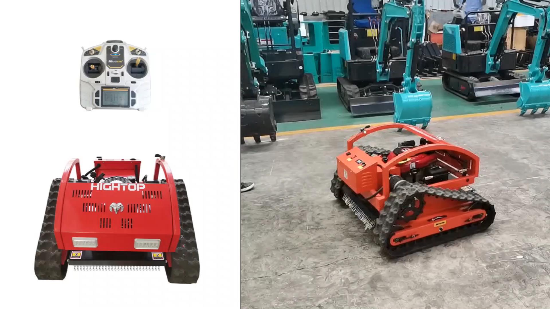 中国新しいロボット芝刈り機ファームガソリンリモートコントロールミニ芝刈り機販売