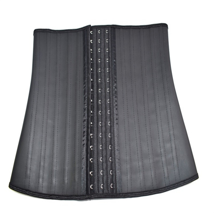 Adjustable Traditional 25 Steel Bones 3 Hooks Black <strong>Weight</strong> <strong>Loss</strong> Waist Trainer Latex <strong>Corset</strong>