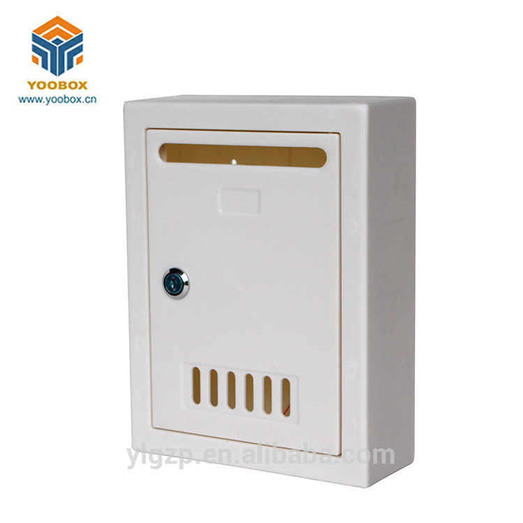 2020 YooBox Wall Mounted China Clear Plastic Mail Box for Outdoor Decoration