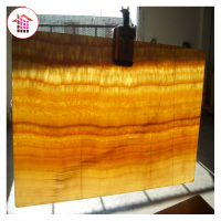 1Premium natural transparent yellow onyx stone for background