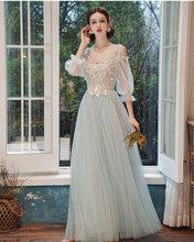 Платье подружки невесты для девочек, длинное элегантное розовое серое платье для выпускного вечера, женские платья 2020, vestido madrinha(China)