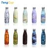 TY 500ml Double wall Stainless Steel Insulated Water Bottle Marble grain Vacuum Flask & thermoses sports coke cola bottle