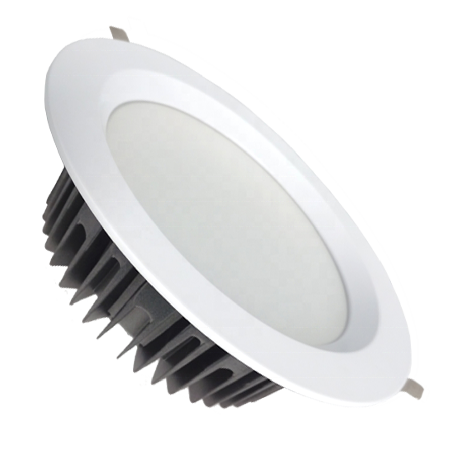 Aluminium Alloy Housing Recessed Led Down Light 40w Round SMD Led Downlight for Supermarket