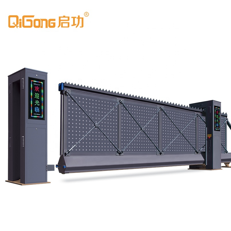 Automatic Horizontal pillar Light Drawing Sliding Main Gate