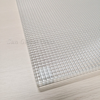 Cross Reeded Glass Ultra Extra Low Iron Tempered Toughened Laminated Tecture Textured Pattern Interior Decorative Glass