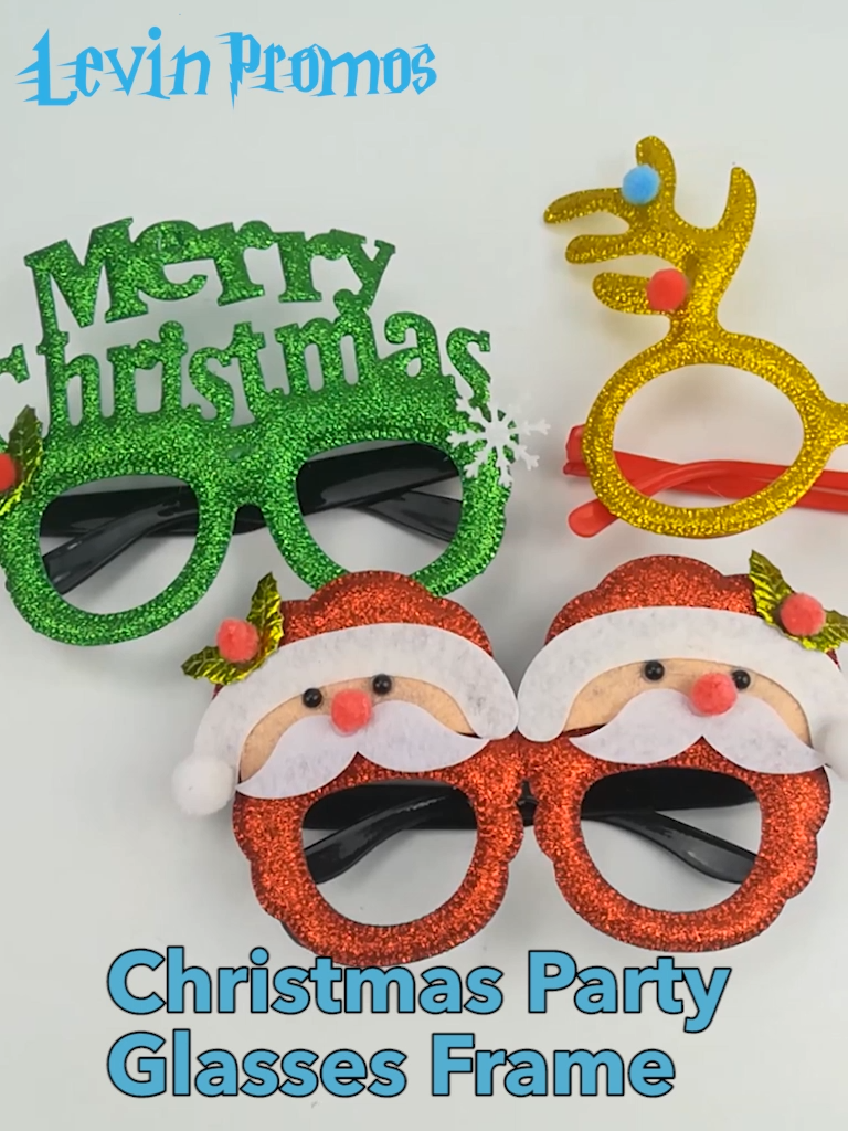 Wholesale Christmas Party Supplies Children Kids Cute Xmas Christmas Decoration Glasses Frame