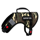 3 M reflective Camo Style Safety Buckle Lift Back Support Protective Dog Vest EMOTIONAL SUPPORT ANIMAL Dog Harness