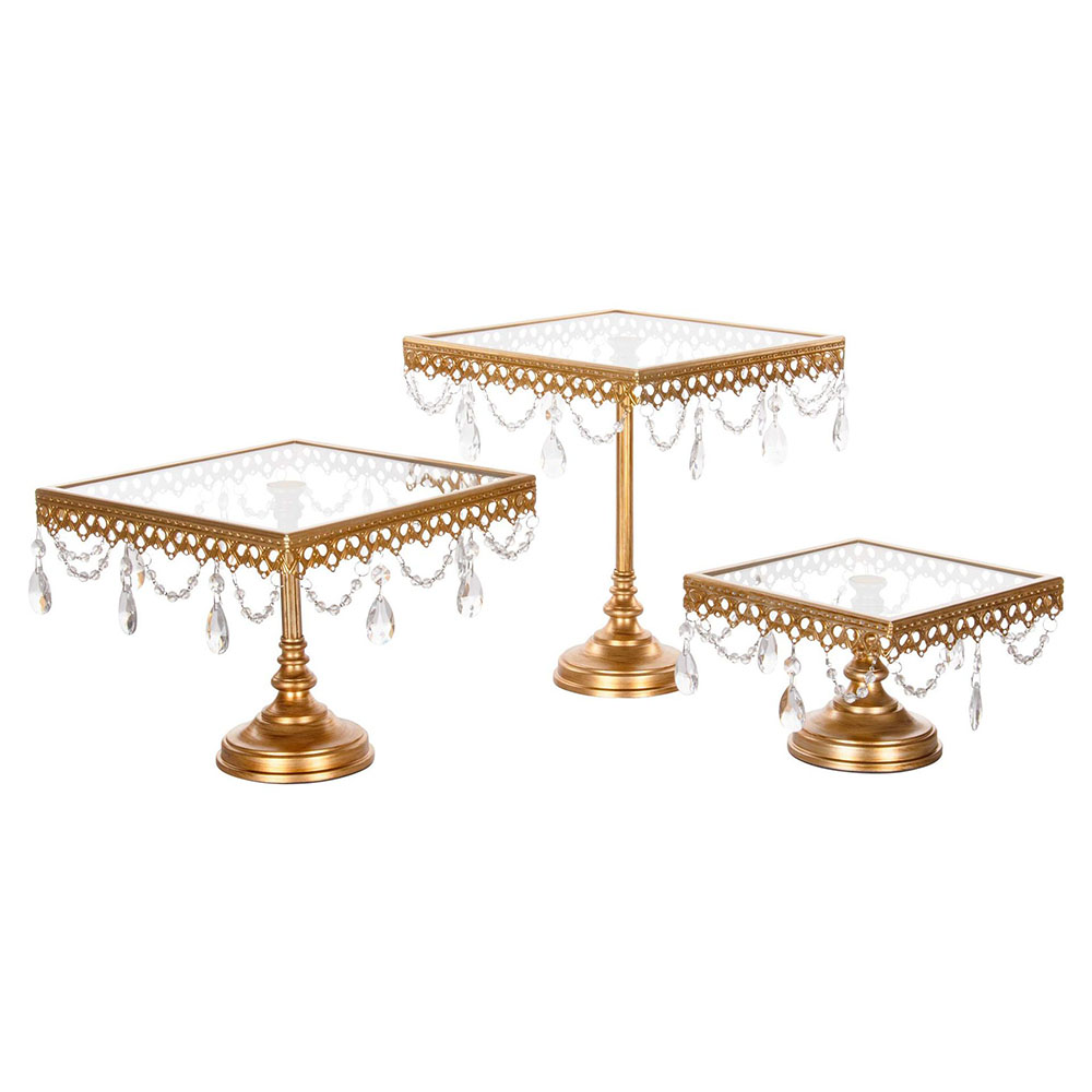 ZHUOOU Wedding Cake Tray Dessert Delicate Table Decoration Cupcake Stand Wedding Dessert Display Stand