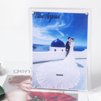 Fashion Tebletop Free Standing Acrylic Magnetic Photo Frame/Picture Frame