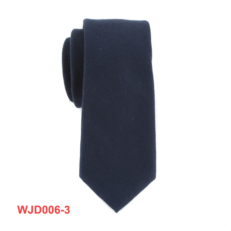 Mens Cotton Vintage Solid Ties Black One Color Necktie