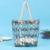 Amazon hot sale custom fashion waterproof transparent PVC tote beach bag with rope handles for women