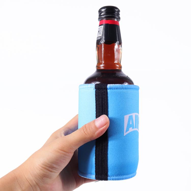 Logo personnalisé imprimé en néoprène bière stubby titulaires peut refroidisseurs koozies sacs à manches