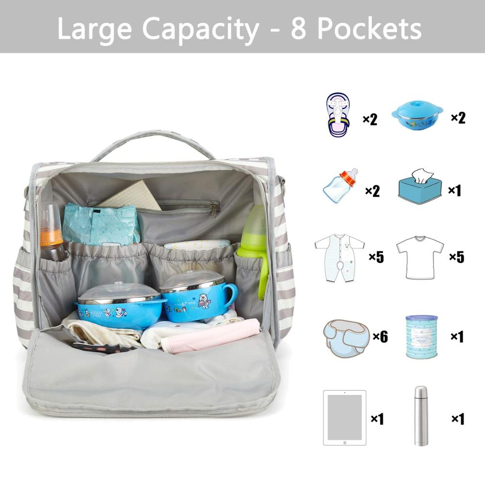 Osgoodway 2020 Stylish Multifunction Mummy Diaper Bag Backpack Travel Baby Diaper Changing Bag