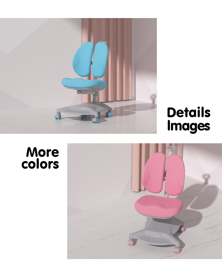 IGROW students study desks and chairs with child chair ergonomic kids study chair