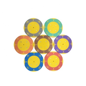 Customized little flower crown clay poker chips without denomination casino chip set 45mm