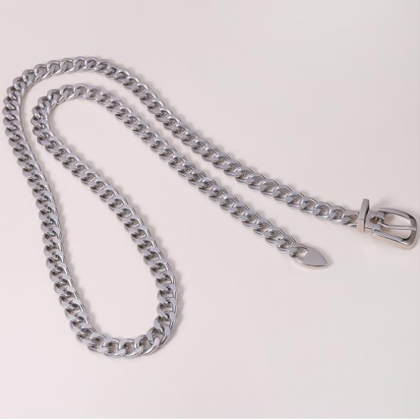 European and American fashion jewelry personality creative simple metal chain waist belt